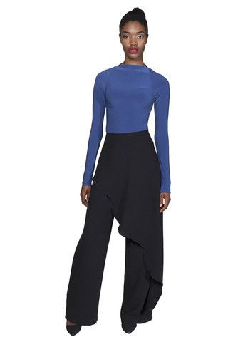 BAZZUL Boulton Wideleg Pant with overlay | www.bazzul.com