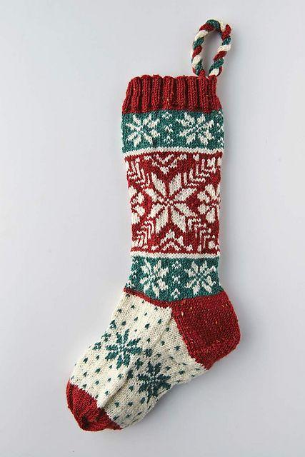 Scandinavian Christmas stocking pattern by Sarah Dennis - Cornish Knitting Company