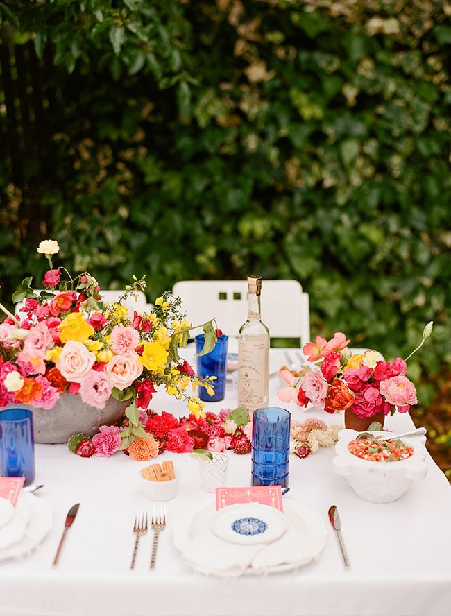 A Classy & Vibrant Backyard Fiesta - Inspired By This