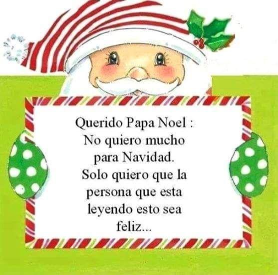 Querido Papa Noel: