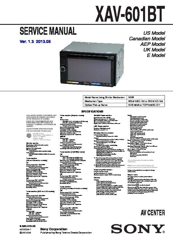 Image Result For Sony Xav 60 Wiring Diagram