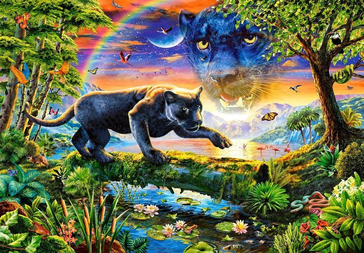 Castorland Puzzle 1500 T. Panther in der Dämmerung (C-151356) in Spielzeug, Puzzles & Geduldspiele, Puzzles | eBay