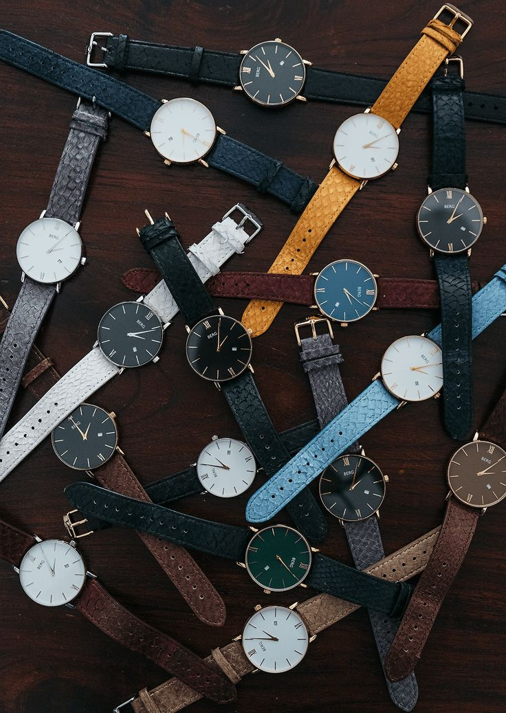 Endless combinations on www.bergwatches.com #fashion #mensfashion #womensfashion #watches #bergwatches