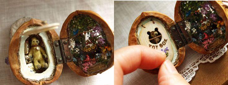 Микромир в грецких орехах: удивительные миниатюрные работы - Ярмарка Мастеров - ручная работа, handmade