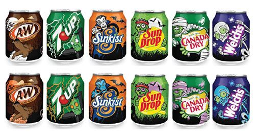 Review: Dr Pepper Snapple Group 2012 Halloween Cans - 7Up...