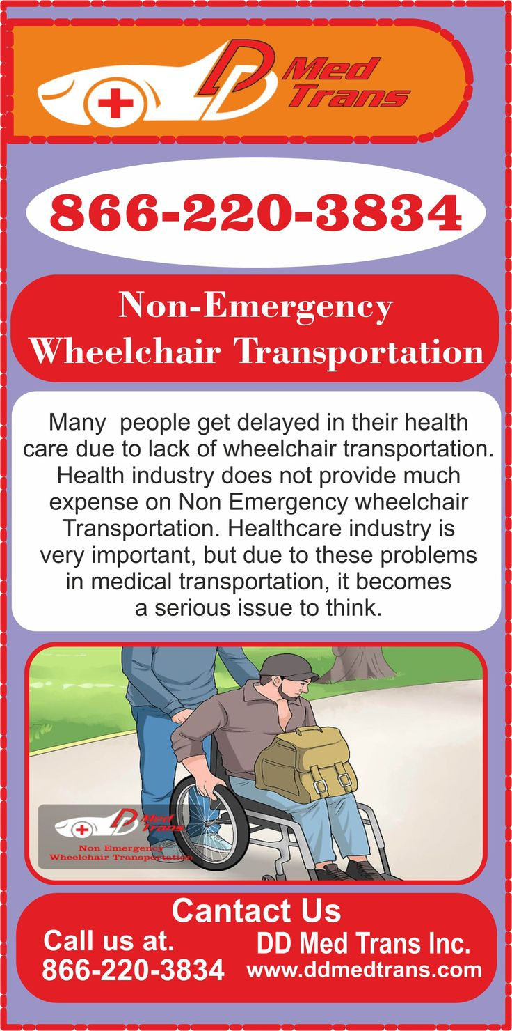 Let's know about the non-emergency Wheelchair transportation service offered by ddmedtrans.com nationwide in the USA. Please share the infographic if you liked it.