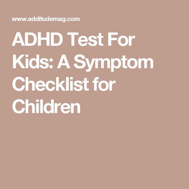 ADHD Test For Kids: A Symptom Checklist for Children