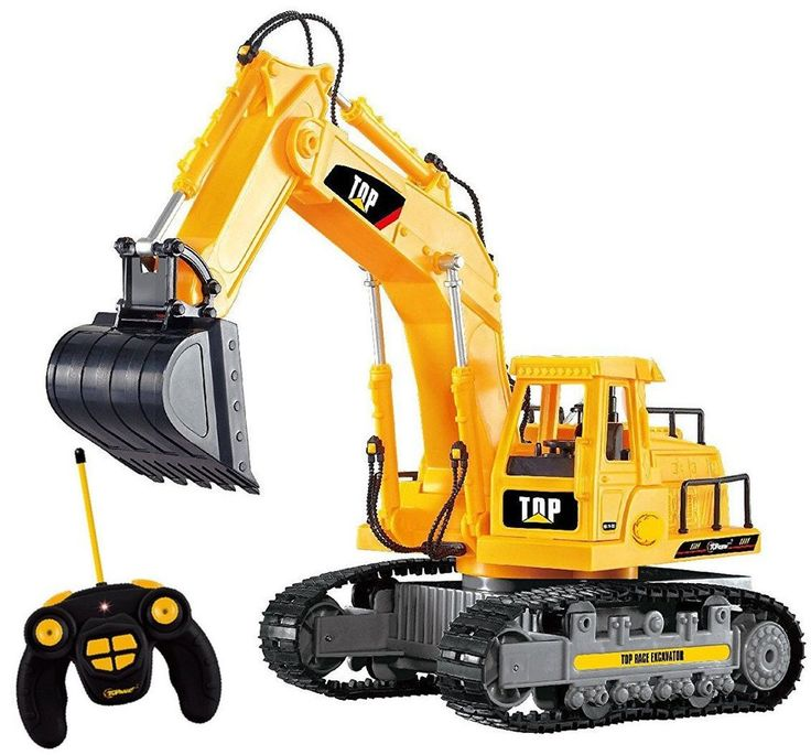 Remote Control Tractor Battery RC Excavator Construction Toys Vehicle Digger Car #TopRace
