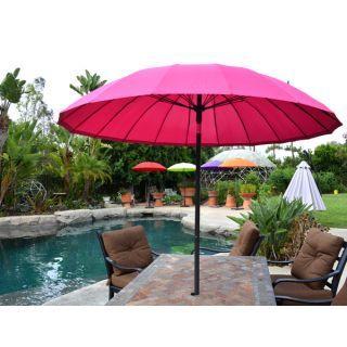 7 Foot Patio Market Umbrella Pink Parasol Sirb Patio