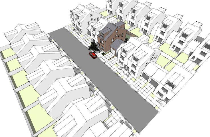 1204 rohouse design in suburban townhouse development for Suburban house blueprints