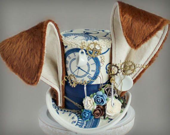 March Hare Mini Top Hat March Hare Costume Fascinator