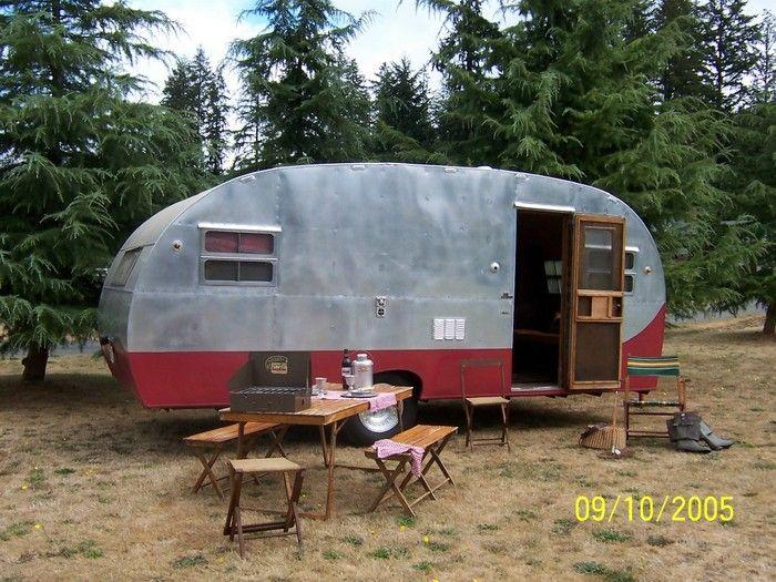 1949 Kit Chateau Vintage Travel Trailer Camper Canned Ham