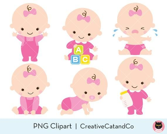 Baby Girl Clipart Baby Girl Clip Art Baby Girl Shower Clipart Etsy Baby Girl Clipart Baby Girl Art Baby Shower Clipart