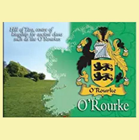 For Everything Genealogy - O'Rourke Coat of Arms Irish Family Name Fridge Magnets Set of 2, $12.00 (http://www.foreverythinggenealogy.com.au/orourke-coat-of-arms-irish-family-name-fridge-magnets-set-of-2/)
