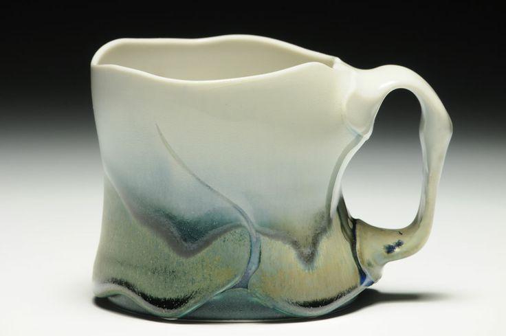 Noel Bailey Mug,  cone 10 reduction glaze on porcelain