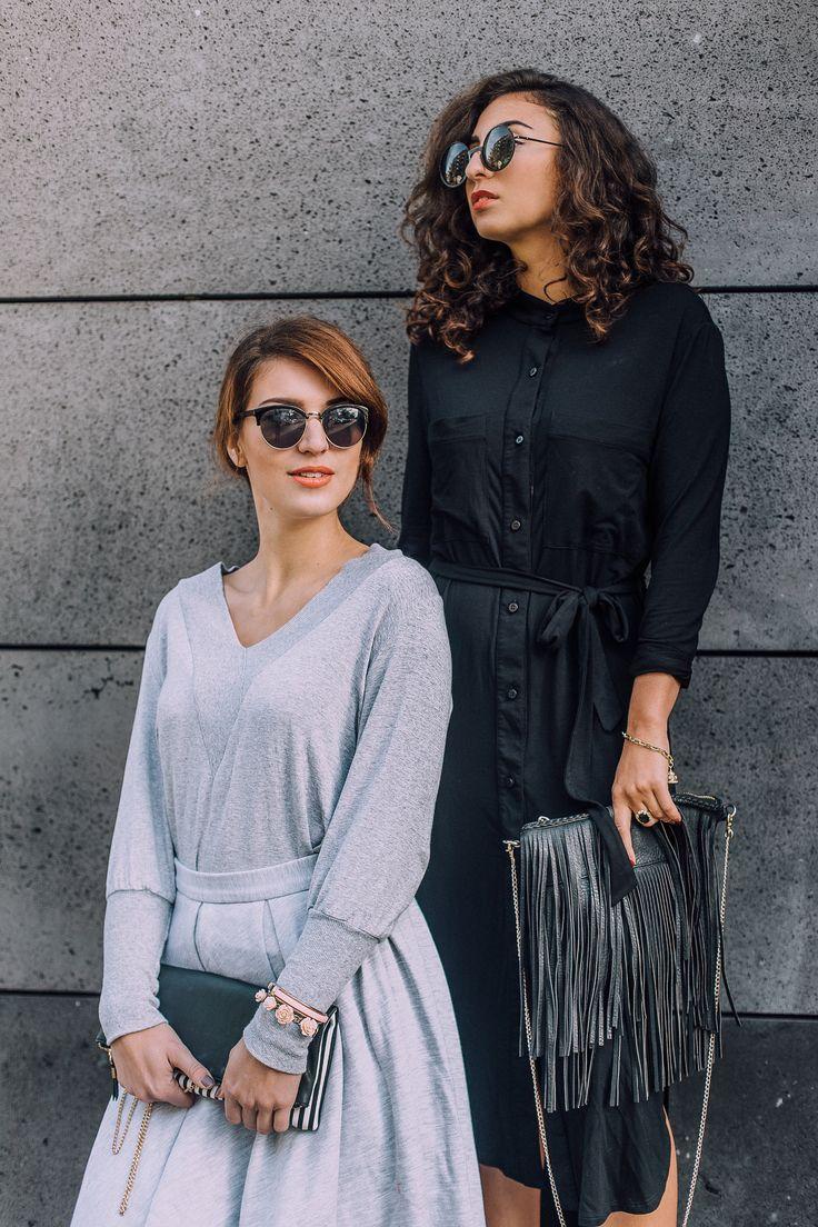 RISK made in warsaw jersey midi skirt tulle shirt dress polish brand