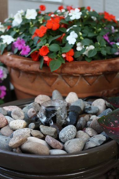 Homemade Patio Fountain Step-by-step tutorial for a simple water feature