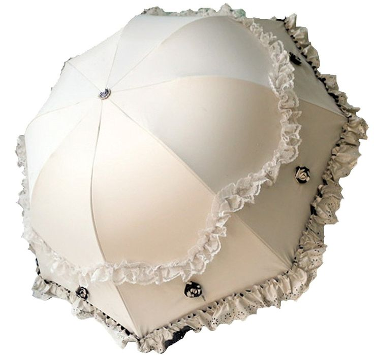 Victorian Supergirl Women Parasol Travel Compact Lace Sunshade Anti-UV Windproof Rain Umbrella $28.99  #Ad