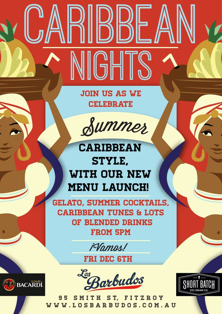 This Friday we're at @LosBarbudos in Collingwood for Caribbean Nights!