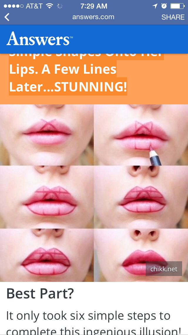Make up tips and hacks how to put on lipstick
