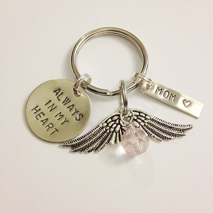 Remembrance Keychain - Memorial, Sympathy Gift, Personalized. $15.00, via Etsy. $15.00