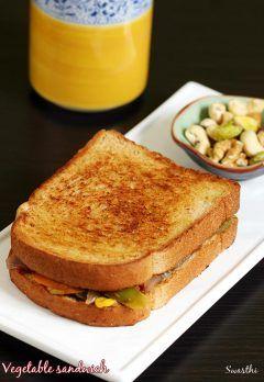 Veg sandwich recipe | Simple easy vegetable sandwich recipe on tawa