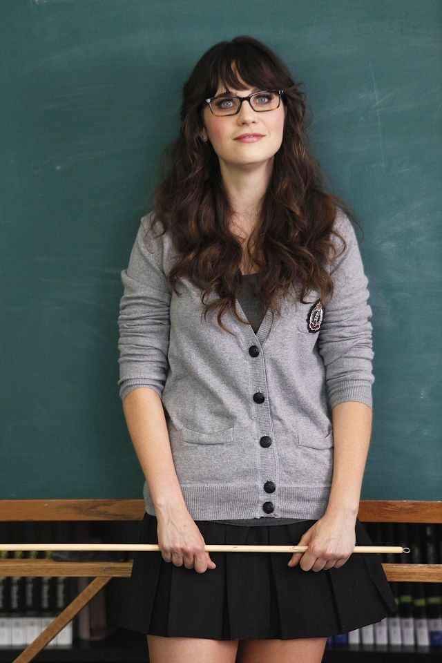 Zooey Deschanel as Jess on New Girl.  She's the inspiration for my new glasses!!!  ;)