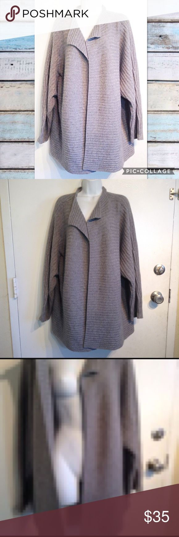 MODERN SOUL Plus Size Grey Knit Cardigan Sweater Modern Soul from QVC plus size grey knit open front long cardigan sweater. Warm and cozy. Nice quality. 50% wool, 30% rayon, 12% nylon, 8% angora rabbit hair. Perfect for layering. Size 2x. No modeling. Smoke free home. I do discount bundles. Modern Soul Sweaters Cardigans
