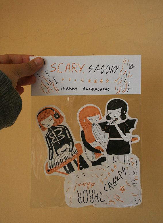 Scary band stickers