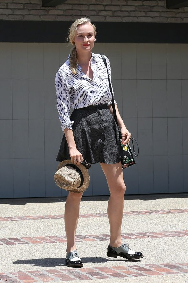 Diane Kruger wearing the iconic Robert Clergerie ROEL style. #robertclergerie #dianekruger