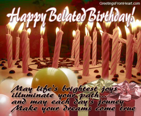 The 25 best Belated birthday messages ideas – Happy Birthday Wishes Greetings