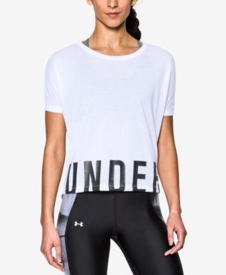 UNDER ARMOUR Under Armour Oversized Logo Training Top. #underarmour #cloth # tops