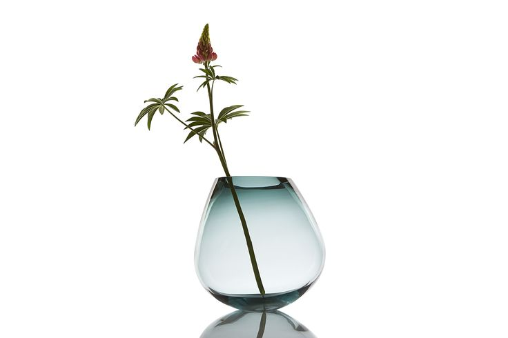 COGNAC vase, designed by PIECE of DENMARK, is hand blown, ground and polished in the traditional Scandinavian style, drawing on several hundred years af tradition within glass craftmanship. The glass vase/sculpture is produced at a glass studio in Scandinavia.