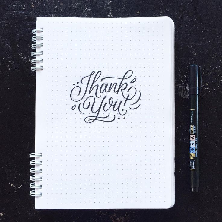 Thank You - Brush lettering by Wink & Wonder