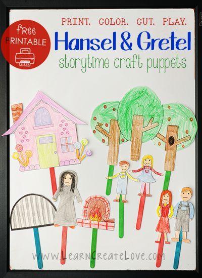 Storytime Craft Hansel And Gretel Free Printable