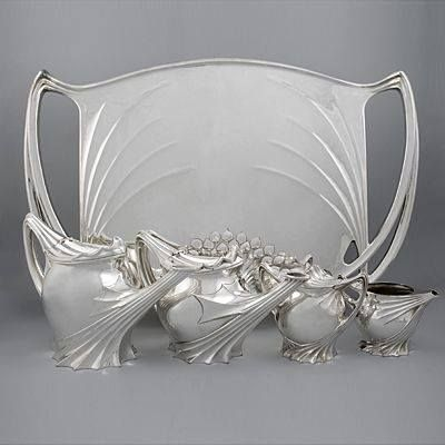 Coffee and Tea service with Tray by Paul Follet