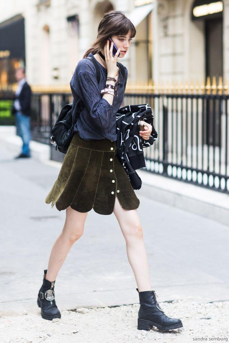 ピーターパンのようなスカート。 - 海外のストリートスナップ・ファッションスナップ
