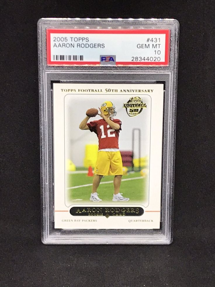 2005 topps aaron rodgers rookie card psa 10 1150