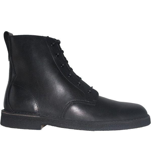 Clarks Originals Desert Mali - Black Leather High Top Boot