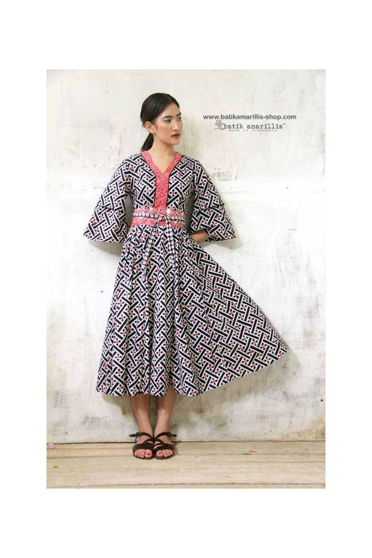 batik amarillis's amarantha dress-PO(excluded obi belt)