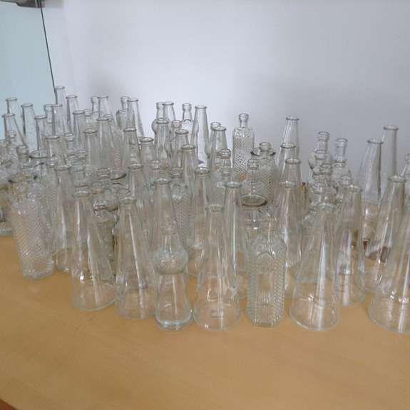 Zu verkaufen sind 88 schöne Flaschenvasen in Vintage-Optik,ideal als Hochzeitsdeko,nur einmal benutzt!Die Vasen sind zwischen 13 und 18,5 cm hoch! Nur an Selbstabholer abzugeben., Recklinghausen - kostenlose Kleinanzeigen - kalaydo.de