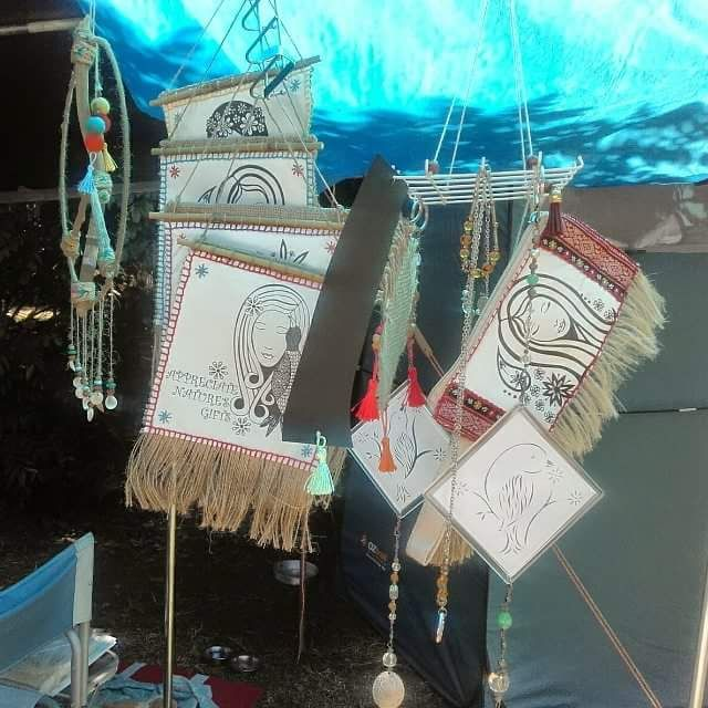 I displayed my creations in our camp today & sold 4 items 😊