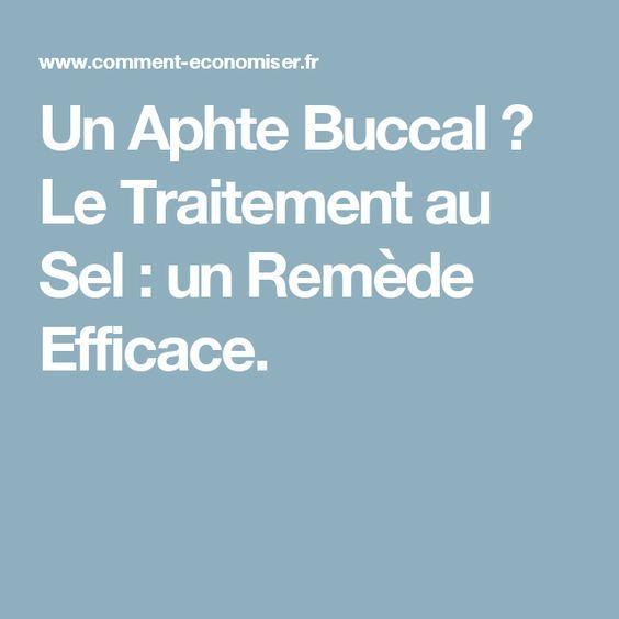 Un Aphte Buccal ? Le Traitement au Sel : un Remède Efficace.