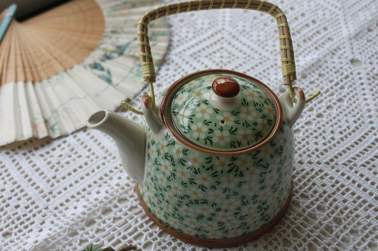 Bule ❀ Pequim - Bule tipicamente oriental, em porcelana e pega  amovível em verga, com design inspirador e decoração tradicionalmente chinesa. Inspired by Lemon