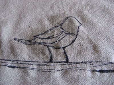 clutterpunk: Thread sketching on fabric: techniques and tips