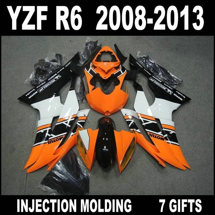 444.54$  Watch here  - Free customize for 2008 2009 2012012012 2013 YAMAHA R6 orange white fairings 08 09 10 11 12 13 YZF R6 fairing kit