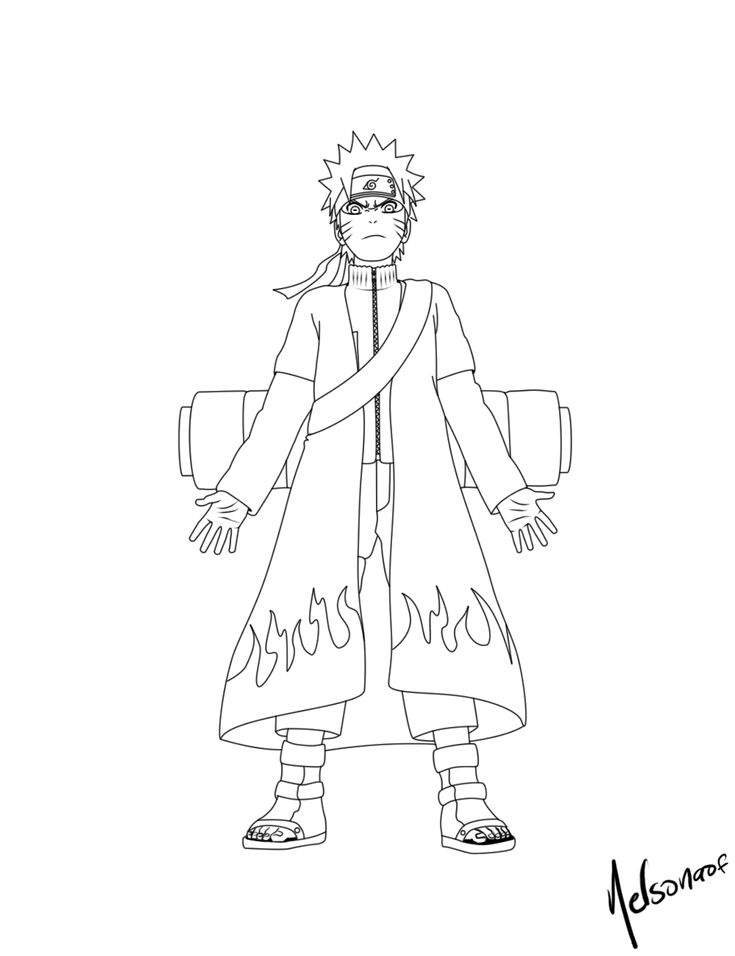 Naruto Coloring Pages Worksheet