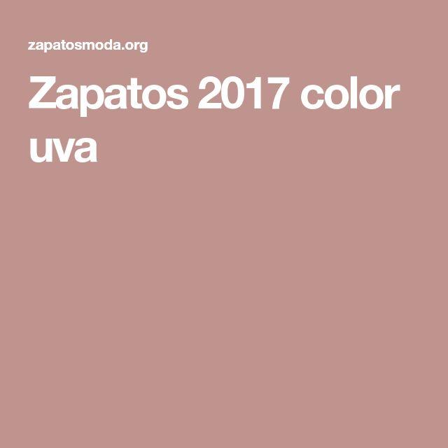 Zapatos 2017 color uva