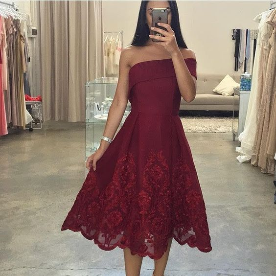Sexy Short Prom Dress, Asymmetric Neck Prom Dress,