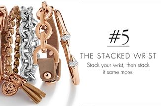 Stacked wrist jewellery from American Swiss